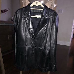 Via Spiga Leather Jacket Size US 10